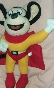 "Vtg 9"" MIGHTY MOUSE Plush Terrytoons"